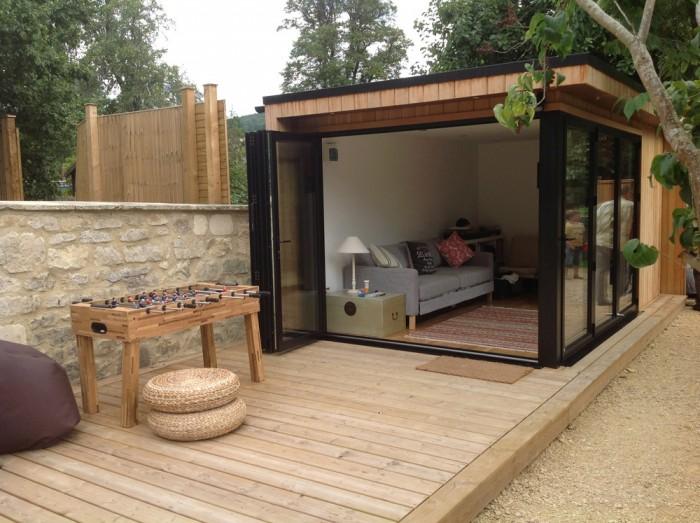 Havehus med terrasse