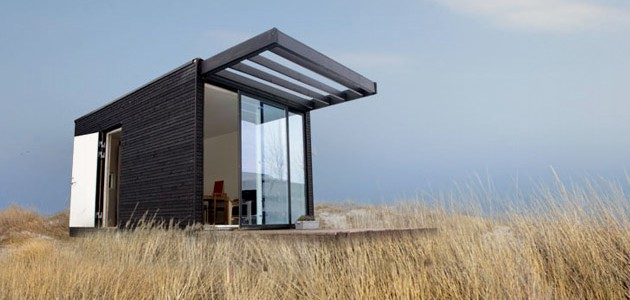 Arkitekttegnet anneks i moduler til haven