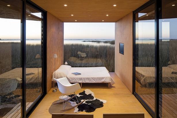 Container hus med minimalistisk indretning