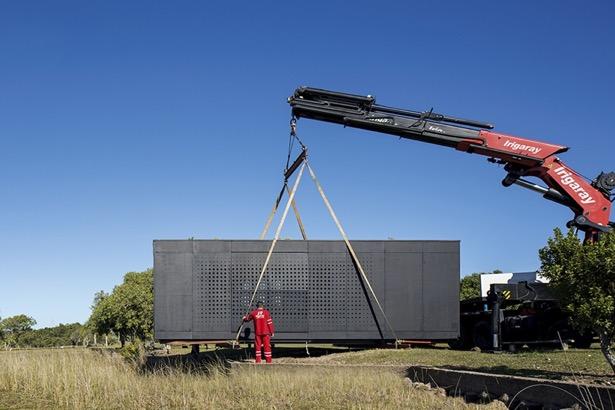Transport af mobilt container hus